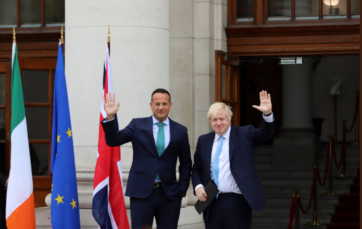 Chilly in Dublin. Boris Johnson meets Taoiseach Leo Varadkar