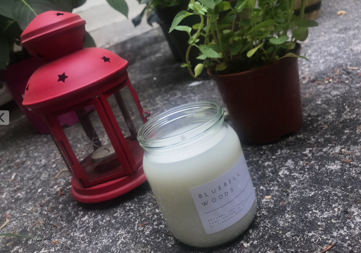 Tinnock Farm Tipperary soy candle Bluebell [Review]